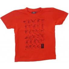 T-shirt HANDALFABET, barn - Röd