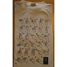 T-shirt HANDALFABET, vuxen - Beige, XXL