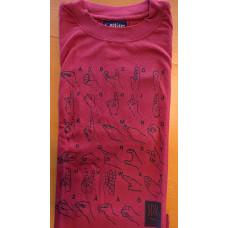 T-shirt HANDALFABET, vuxen - Röd