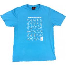 T-shirt HANDALFABET, barn - Turkos