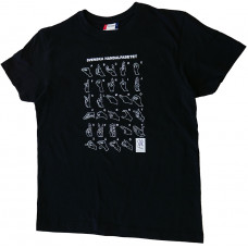 T-shirt HANDALFABET, vuxen - Svart